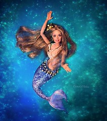 Mermaid Magic (AaronMalibu) Tags: collector mattel sirena peaceandlove hippie generationgirl madetomove doll barbie mermaid ooak