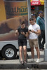 094A2459 v2 (Wheels Down) Tags: guys male shorts tshirt candid streetphotography sign legs feet birkenstock sneakers biceps muscle hottie truck nathan famous iphone nyc