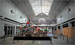 """""""L'enfer, un petit début"""" 1984 Jean Tinguely, """"Kanal - Centre Pompidou"""", quai des Péniches, Bruxelles, Belgium (claude lina) Tags: claudelina brussel bruxelles kanal musée museum kanalcentrepompidou garage usine factory citroën garagecitroënyser belgium belgique belgië jeantinguely lenferunpetitdébut oeuvre art"""