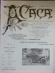 """Revista Mensal Ilustrada """"A Caça"""" Nº 1, Ano VII (ACMateus) Tags: antiguidades coleccionismo velharias revista"""