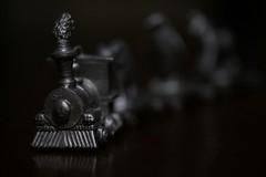 Miniature steam locomotive (joka2000) Tags: macromondays closeup lowkey macro steel steamlocomotive hmm