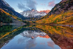 Glorious - Aspen, Colorado (Aaron Reed Photography) Tags: icon maroonbells reflection trees aaronreedlimitededitions aaronreedfineart aaronreedphotography fall autumn colorado aspen