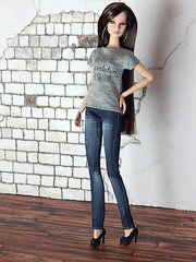 """Capsule Collection – the """"Levitation Fashion"""" shirt (Levitation_inc.) Tags: ooak doll clothes clothing fashion fashions dolls handmade etsy levitation levitationfashion royalty fr fr2 nuface poppy parker barbie made move outfit black white basic basics capsule collection wardrobe giselle gigi costume drama reroot"""