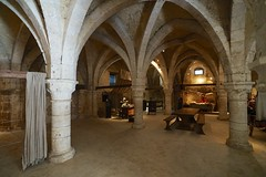 The Tithe Barn interior, Provins (jozioau) Tags: variosonnart281635 tithebarn medieval france provins interior vaulting museum