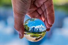 20:52 A ball of Houston (Woodlands Photog) Tags: lensball houston skyline cityscape magical