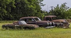 Three rusted classics (Kool Cats Photography over 10 Million Views) Tags: abandoned rusted canon canont3i tamron16300mmf3563diiivcpzdb016 oklahoma field landscape rust oklahomacity outdoor grass green