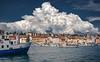 Spectacular Cloud over Rovinj (Bernd Thaller) Tags: rovinj istria croatia cloud cumulonimbus sky weather sea harbour