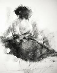 P1018139 (Gasheh) Tags: art painting drawing sketch figure girl charcoal gasheh 2018