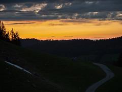 Sunset (s.schulthess) Tags: bern schweiz switzerland gantrisch landschaft landscape berge alpen mountain alps forest wald sonne sun lake see nature natur himmel sky wolken clouds