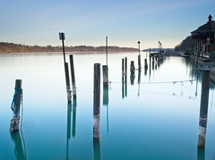 Dawn on the Niagara (TheBartels) Tags: m43ftw lewiston niagara river jetty le longexposure morning ny landscape riverscape 716