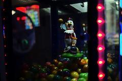 Hello Ducky (Andrew Malbon) Tags: leicam leica mp240 fair amunsement arcade fairground darkness nighttime portsmouth southsea southparadepier horror duck balls game lights neon bokeh gaudy