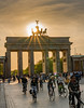 Brandenburger Tor, Berlin - Brandenburg gate (cgruenberg) Tags: brandenburger tor sunset sonnenuntergang 24105 gegenlicht a7r3 sony berlin bike fahrrad radfahrer