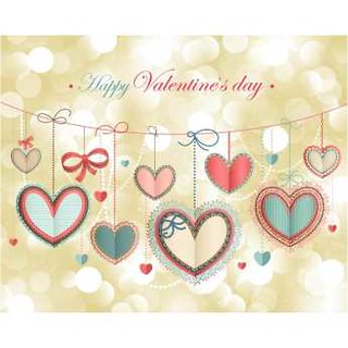 free Vector Happy Valentines Day Colorful hearts On Wire background