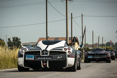 Huayra convoy. (David Clemente Photography) Tags: pagani paganihuayra huayra huayrabc cars supercars hypercars v12 photography paganiraduno vanishingpoint nikonphotography carspotting