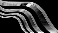 waves (MAICN) Tags: 2018 lines architektur building leeuwarden mono balkon gebäude linien glass curves dunkel bw glas blackwhite monochrome fassade dark schwarzweis geometrisch architecture balcony einfarbig front geometry sw