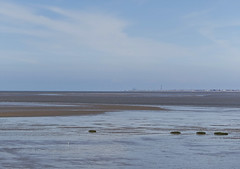 Looking across at Blackpool