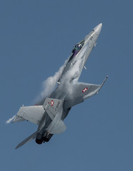 Swiss Hornet climbing (dickiebirdie68) Tags: aircraft military airshow flight flying riat fairford clouds sky