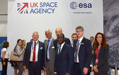 Sam Gyimah, Minister for Universities, Science, Research and Innovation visiting the Space Zone at FIA 2018 (europeanspaceagency) Tags: esa europeanspaceagency space universe cosmos spacescience science spacetechnology tech technology fia18 fia2018 farnboroughinternationalairshow ukspaceagency spacezone farnborough farnboroughairshow samgyimah ministerforuniversitiesscienceresearchandinnovation andygreen presidentofukspace drgrahamturnock