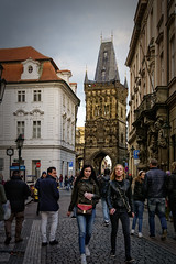 Powder Tower (Tiigra) Tags: prague hlavníměstopraha czechia cz architecture balcony baroque city gothic mural neogothic ornament road roof sculpture statue tower arch 2017