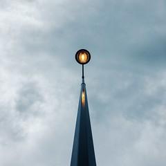 Le lampadaire (SebDevigne) Tags: iphonephotography vscox street city ville lampadaire light minimalism