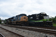 NS 361 & NS GE01 7/2/18 (tjtrainz) Tags: ns norfolk southern 361 local ge01 manifest train trains east point ga georgia division griffin district prlx progress rail sd70ace sd70acu rpm4c gp33eco rebuild emd electro motive