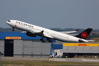Air Canada A330-300 C-GFAF departing BRU/EBBR
