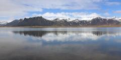 Á Snæfellsnesi (hó) Tags: snæfellsnes iceland landscape pond lake reflection sky water clouds mountains snow may 2018 still