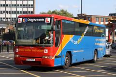 52116 KSU 464 (K758 FYG) (Cumberland Patriot) Tags: stagecoach north east england in newcastle busways travel services ltd tyne and wear pte passenger transport executive volvo b10m plaxton premiere wallace arnold 146 610 83cbd ksu464 k758fyg 52116