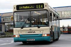 1758 NK53 HJA (Cumberland Patriot) Tags: arriva northumbria north east england gateshead metro centre bus station dennis dart slf plaxton mini pointer ii mark two mpd super low floor 1758 nk53hja