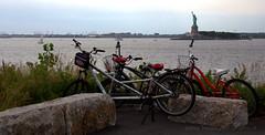 Seasonal Cycling Getaway:Baking. (gilmavargas) Tags: bike sky nyc governorsisland statueofliberty