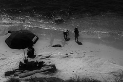 I dream in black and white (ogdaddyo) Tags: beach black white mono lifeguard