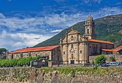 Real Monasterio de Santa María, Oia (Pontevedra) (Miguelanxo57) Tags: arquitectura monasterio iglesia fachada cisterciense barroco oia pontevedra galicia monasteriodeoia torre cielo edificio