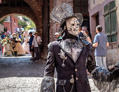 Carnival of Venice in Riquewihr 2018 - Carnaval vénitien de Riquewihr 2018 (1) (Cloudwhisperer67) Tags: canon fantastic carnival riquewihr alsace france 2018 parade 760d venetian masquerade ball masked mask venise venezzia venice italy cloudwhisperer67 fest great colors flashy incredible amazing photgraphy love lovely adorable blue robes robe costume costumes bal masqué divine comedy woman splendid urban city cityscape magic magical moment poetry image photography fantasy bokeh travel trip color people carnaval art fun europe europa 760 vénitienne rêveries vénitiennes july disguise