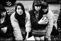 Jingūmae, Shibuya-ku, Tōkyō-to (GioMagPhotographer) Tags: tōkyōto peoplegroup girl shibuyaku jingumae eastofthesun leicamonochrom japanproject japan streetscene tokyo tkyto