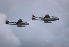 Norwegian AF Vampires (dickiebirdie68) Tags: aircraft military airshow flight flying riat fairford clouds sky