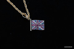 Gem-set Union Jack and chain (Can Pac Swire) Tags: old antique english british jewels gemset jewelry jewellery gold 9k 375 ruby sapphire diamond pendant chain flag union jack 2018aimg1091