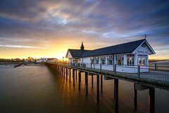 Seaweed and Salt (Nick Seaman Photos) Tags: sony suffolk east anglia southwold sunset pier long exposure lee filter big stopper polariser beach hut sand a7r a7rii zeiss kase variotessartfe41635