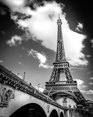 Eiffel Tower (f.albertowilson) Tags: d300 france nikon paris eiffel tower blackandwhite bw travel bridge clouds sky architecture pont d'iena jena blackdiamond
