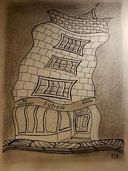 Fusion Totnes. (jeffhill6) Tags: totnes fusion abstractart drawing art architecture blackandwhite linedrawing peninkandgraphite