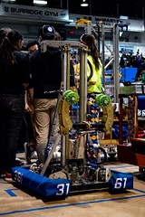 Robot (Stefen Acepcion) Tags: mechanical first wood day hamilton steel competition tronic titans contrast light dark blue gold canada ontario frc robotics robot