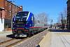 Amtrak 301 departing Springfield (HighHor$epower) Tags: idtx4632 amtrak301 lincolnservice springfield broadwayalley sc44 sc44charger siemenscharger tier4 unionpacific springfieldsubdivision railwayage copyrightinfringement