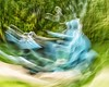 Oh-Be-Joyful (dutch.bieber.photography) Tags: blue motion rotating scooter speed blurredmotion action abstract riding nature curve
