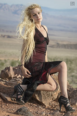 Jesaka - Death Valley 2 (lc99photography) Tags: jesaka woman fashion fashionmodel fashionphotography nude nudeart nudemodel nudephotography longhair deathvalleynationalpark deathvalley desert sunset light