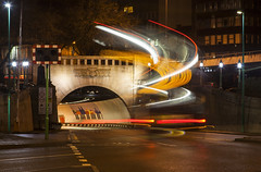 Mersey Tunnel Light Trails (David Chennell - DavidC.Photography) Tags: liverpool merseyside lighttrails lightpainting tunnel entrance queensway merseytunnel