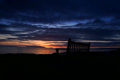 A Seat with a View (matthewblackwood10) Tags: seat bench sea sun sunset setting set view rest sky clouds dusk cloud island coast scotland uk troon west