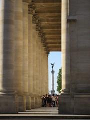 Portico of Grand-Théâtre, view to Monument aux Girondins, Bordeaux, France (Paul McClure DC) Tags: bordeaux france gironde nouvelleaquitaine july2017 historic architecture
