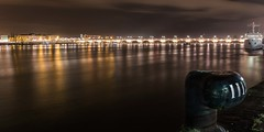 Enlighted Pont de pierre (benji.valettoises) Tags: arch arche bateau bordeaux france garonne gironde night nuit pontdepierre reflection reflet river riviã¨refleuve
