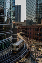 Timeless Transportation (mattb105) Tags: chicago train view urban city cityscape travel