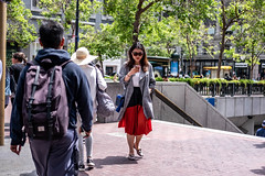 San Francisco 2018 (burnt dirt) Tags: sanfrancisco california vacation town city street road sidewalk crossing streetcar cablecar tree building store restaurant people person girl woman man couple group lovers friends family holdinghands candid documentary streetphotography turnaround portrait fujifilm xt1 color laugh smile young old asian latina white european europe korean chinese thai dress skirt denim shorts boots heels leather tights leggings yogapants shorthair longhair cellphone glasses sunglasses blonde brunette redhead tattoo pretty beautiful selfie fashion japanese bag hat red purple