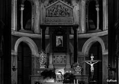 Altare Nostra Signora della Neve (danilocolombo69) Tags: chiesa altare nostrasignoradellaneve la spezia croce madonna bianco e nero danilocolombo69 danilocolombo nikonclubit